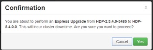 Express upgrade confirmation