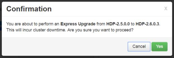 confirmation express upgrade