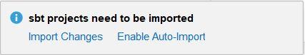 import changes