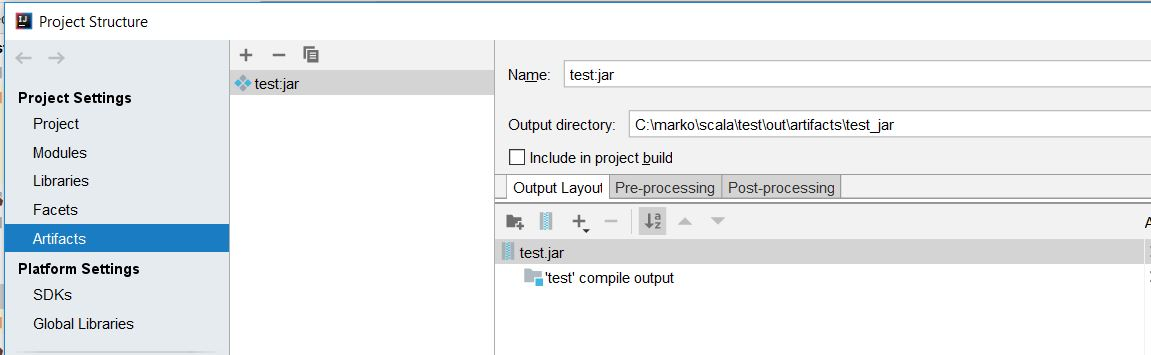 project structure - removed dependencies